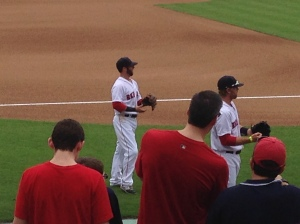 Pedroia Warming Up