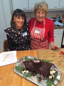 Bette Friedman and me with Yule Log